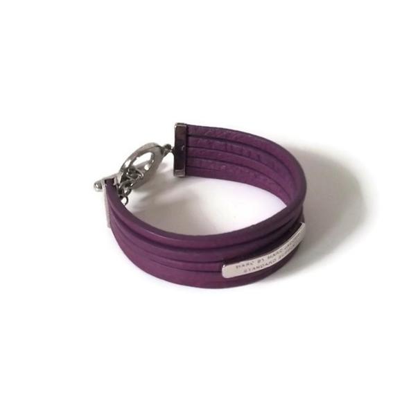 Marc Jacobs Bracelet leather purple